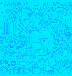 sports line seamless pattern vector image