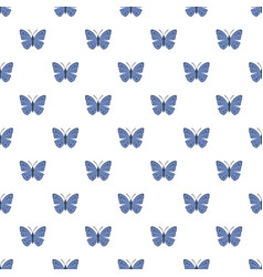 spring butterfly pattern seamless vector image