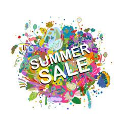 summer sale banner floral bouquet for your design vector image