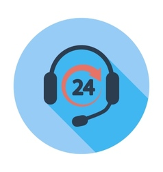 Support 24 hours vector