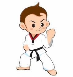 Taekwondo boy vector