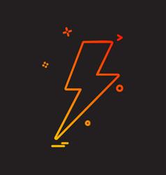Thunder icon design vector