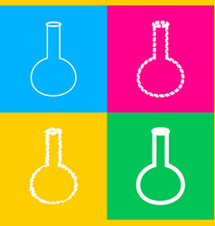 tube laboratory glass sign four styles of icon vector image