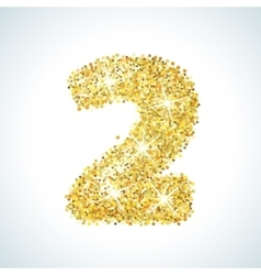 Two number in golden style vector