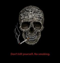 Typographic skill - no smoking vector