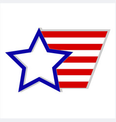 usa flag star logo symbol vector image