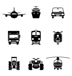 Vehicle transport signs vector image