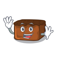 waving brownies character cartoon style vector image