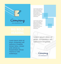 writing on notes company brochure title page vector image