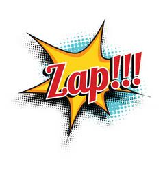 zap comic word vector image