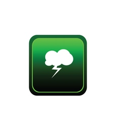 button of cloud flash vector image vector image