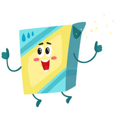funny washing powder laundry detergent character vector image