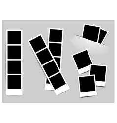 photo frame white plastic border on a white vector image