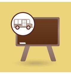 school bus icon blackboard graphic vector image vector image