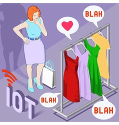 Wearable fashion iot brand vector