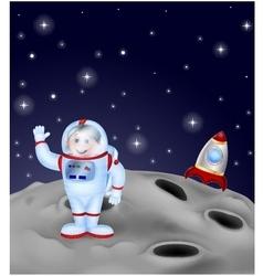 Astronaut landing on the moon vector image