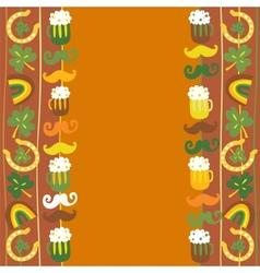 Colorful seamless StPatricks day border vector image
