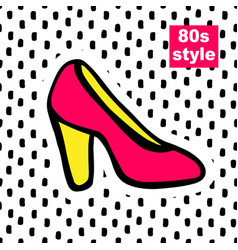 fashion card in pop art vector image vector image