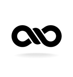 Infinity knot logo Black chain link symbol with vector image