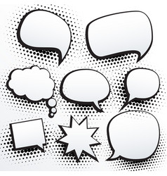 set of empty comic chat bubble in vector image vector image