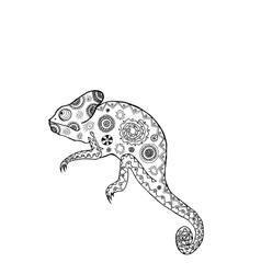 Zentangle stylized chameleon vector image