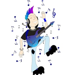 boy with guitar vector image