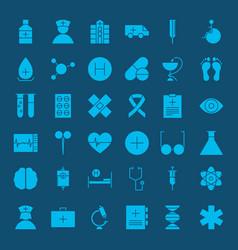 healthcare glyph web icons vector image vector image