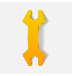 realistic design element wrench vector image vector image