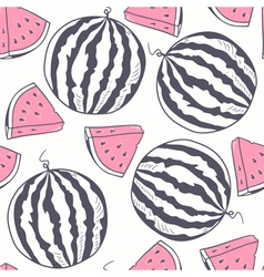 Watermelon stylized seamless pattern vector image vector image