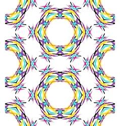 Bright Round Kaleidoscopic Pattern vector image vector image