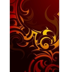 Fire flame ornament vector image