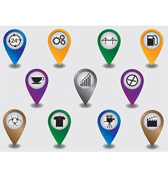 Pointers marking places and objects vector image vector image