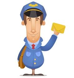 postal worker vector image vector image