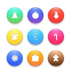 set of christmas badges isolated on white vector image vector image