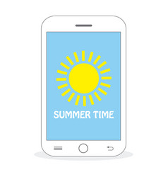 summer time - sun vector image