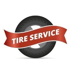 Tire service vector image vector image