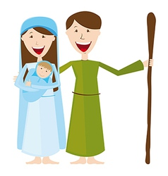 Virgin mary st joseph and baby jesus isolated vector