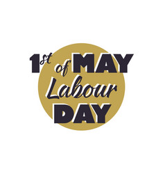 1 may happy labour day label vector