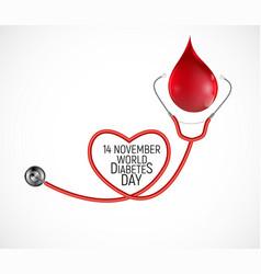 14 november world diabetes day awareness vector