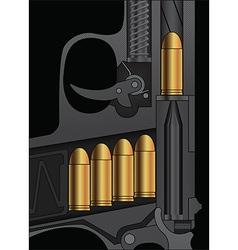 A handgun sectional drawing vector
