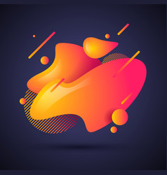 abstract liquid shape fluid gradient waves vector image
