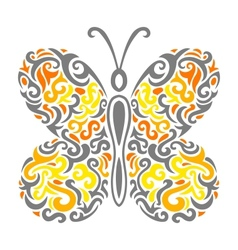 Abstract mehndi butterfly vector