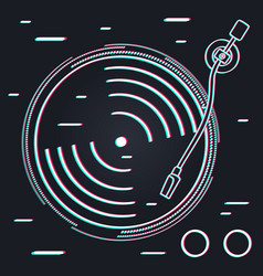 abstract vinyl music player technology concept vector image