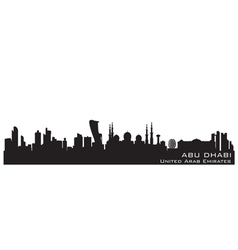 Abu Dhabi UAE skyline Detailed silhouette vector image