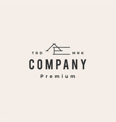 Ae letter mark initial hipster vintage logo icon vector