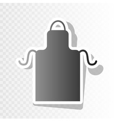 apron simple sign new year blackish icon vector image