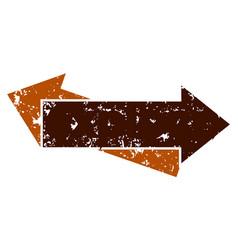 arrow rough left right vector image