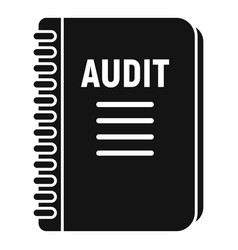 Audit notebook icon simple style vector