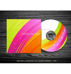 beautiful cd cover design vector image