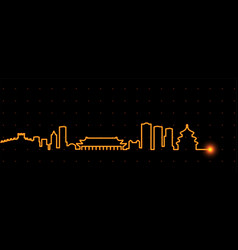 Beijing light streak skyline vector